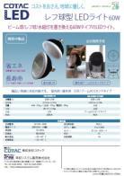 レフ球型LEDライト 60W